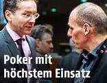 Euro-Gruppe-Chef Jeroen Dijsselbloem und der griechische Finanzminister Yanis Varoufakis