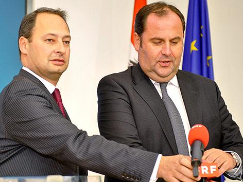 Ex-Finanzminister Josef Pröll und damaliger Finanzstaatssekretär Andreas Schieder