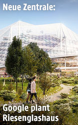 Rendering des neuen Google-Headquarters