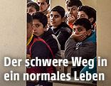 Schulkinder in einer Schule in Erbil