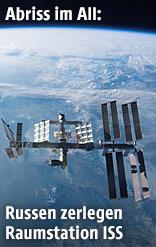 Raumstation ISS vor der Erdkugel