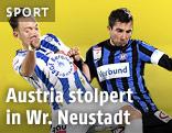 Dominik Hofbauer (SC Wiener Neustadt) und Markus Suttner (FK Austria Wien)
