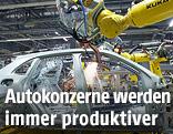 Robotor in einer Porsche-Fabrik