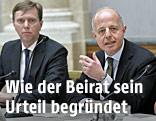 Der administrative Leiter Christoph Bazil und der Vorsitzende des Beirats, Clemens Jabloner
