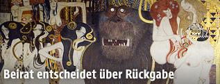 """Ausschnitt aus """"Die feindlichen Gewalten"""" aus dem Beethovenfries von Gustav Klimt"""