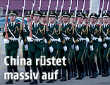 Chinesische Soldaten marschieren