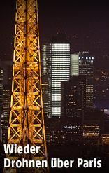 Eifelturm in Paris bei Nacht