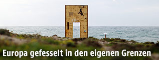 """Door of Europe""-Denkmal auf Lampedusa"