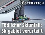 Skifahrer auf einem Lift