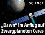 Animation zeigt Raumsonde im Anflug auf Zwergplaneten Ceres