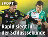Emanuel Schreiner (Altach) und Deni Alar (Rapid)