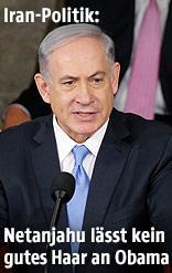 Der israelische Premierminister Benjamin Netanjahu vor dem US-Kongress