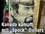 Kanadische 5-Dollar-Note mit Spock-Zeichnung
