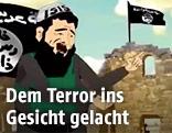 In einem Cartoon dargestellter IS-Kämpfer