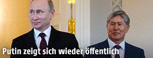 Wladimir Putin und Almazbek Atambayew