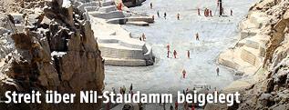 Baustelle des  Grand Renaissance Damm in Äthiopien