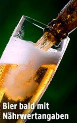 Bier wird in ein Glas gefüllt