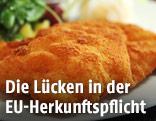 Schnitzel am Teller