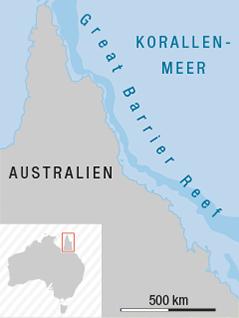 Karte zeigt Ort eines geplanten Kohlekraftwerks am Great Barrier Reef
