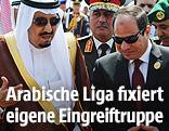 Ägyptischer Präsident Abdel Fattah al-Sisi und Saudi-Arabiens König Salman