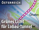 Karte zum Lobau-Tunnel