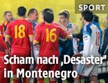 Spieler der russischen und montenegrinischen Nationalmannschaft