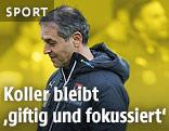 ÖFB-Trainer Marcel Koller vor Spielern beim Training