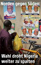 Wahlplakate in Nigeria