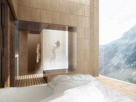 Visualisierung eines Hotelzimmers