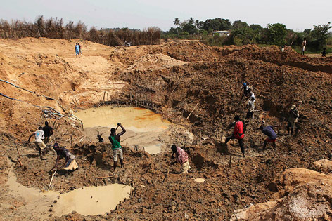 Diamantmine in Sierra Leone