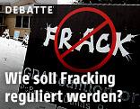 Fracking Schild