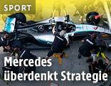 Mercedes-Crew übt Boxenstopp