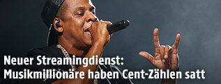 Jay-Z bei einem Auftritt