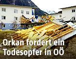 Zerstörtes Haus in Tirol