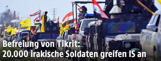 Irakische Sicherheitskräfte auf dem Weg nach Tikrit
