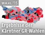 Grafik mit dem Ergebnis der Kärtner Gemeinderatswahlen