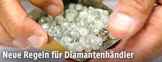 Diamanten beim Händler De Beers