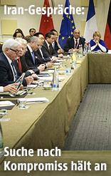 EU-vertreter bei einer Verhandlung