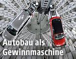 Autoturm der Volkswagen Autostadt in Wolfsburg