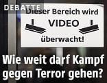 Hinweisschild zur Videoüberwachung