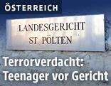 Schild Landesgericht Sankt Pölten