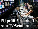 Regieraum eines TV-Senders