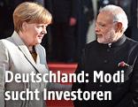 Angela Merkel und Narendra Modi