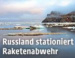 Russische Insel am Nordpolarmeer