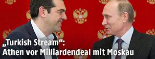 Griechenlands Premier Alexis Tsipras und Russlands Präsident Vladimir Putin