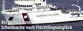 Schiff der italienischen Küstenwache