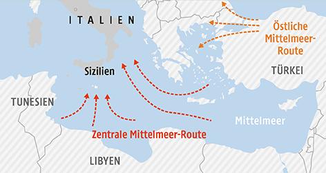 Italien Karte Lampedusa.Fluchtlingsboot Vor Sizilien Gekentert News Orf At