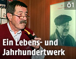 Günter Grass mit Pfeife