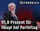 Wiens Bürgermeister Michael Häupl (SPÖ) im Rahmen eines Landesparteitages der SPÖ Wien