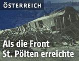 Zerstörter Bahnhof in St. Pölten